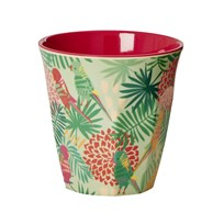 Rice Melamine Medium Cup Tropical Trolical