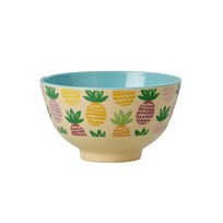RICE A/S Small Bowl Melamine Pineapple Print Pineapple