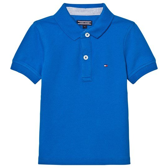 Tommy Hilfiger Royal Blue Polo with Flag Branding 404