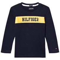 Tommy Hilfiger Navy Branded Long Sleeve Tee 431