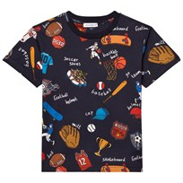 Dolce & Gabbana Sports Cartoon Print T-shirt Marinblå HBC62