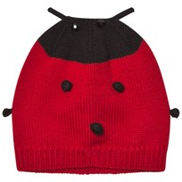 Dolce & Gabbana Red Ladybird Cashmere and Wool Hat R0226