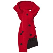 Dolce & Gabbana Red Ladybird Cashmere and Wool Scarf R0226