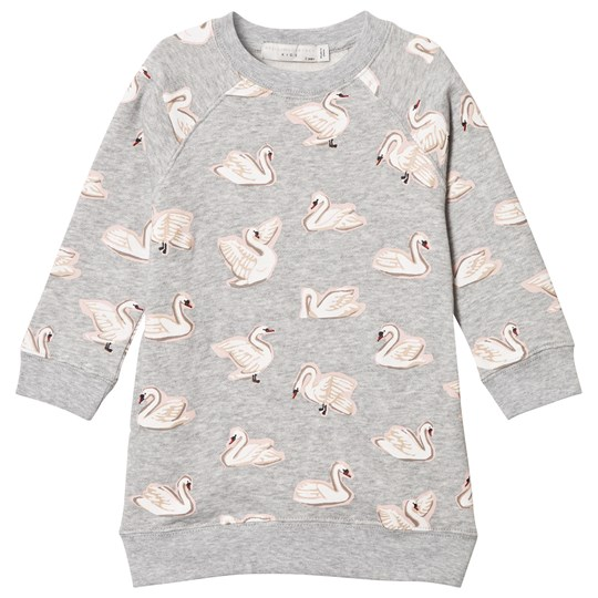 Stella McCartney Kids Grey Leona Swan Dress 1451