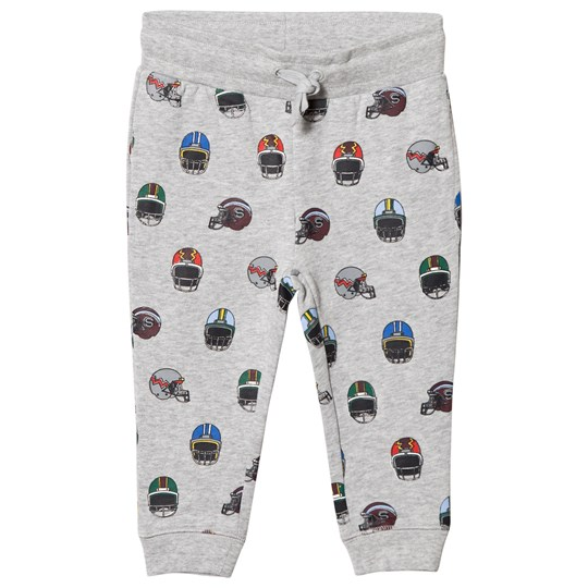 Stella McCartney Kids Grey Helmets Print Zachary Sweat Pants 1453