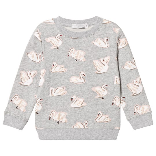 Stella McCartney Kids Grey Swan Print Betty Sweatshirt 1451