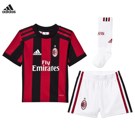 AC Milan AC Milan ´17 Kids Home Kit Top:VICTORY RED S04/BLACK Bottom:WHITE/VICTORY RED