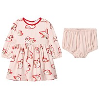 Stella McCartney Kids Fleur Swan Body Klänning Rosa 5771