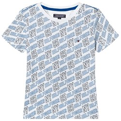Tommy Hilfiger White All Over Print Tee