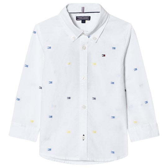 Tommy Hilfiger White All Over Flag Print Shirt 123