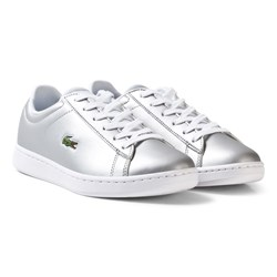 Lacoste Carnaby Evo SPI Trainers Silver/White