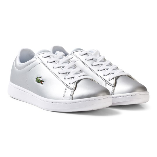 Lacoste Carnaby Evo SPI Trainers Silver/White Silver & White