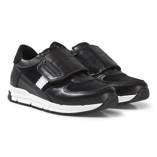 Dolce & Gabbana Black Velcro Branded Trainers 8B939
