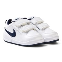 NIKE White Pico 4 Toddler Velcro Trainer WHITE/MIDNIGHT NAVY