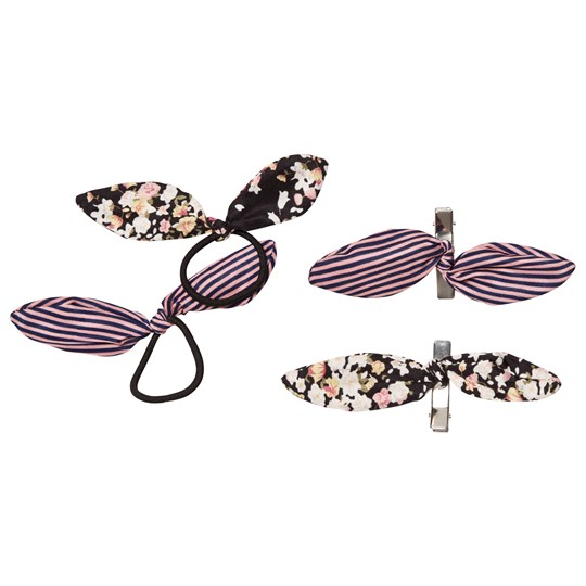 Molo 4-Pack Tie Bow Hair Bands and Clips Bitty Blossom Bitty Blossom