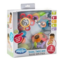 Playgro Shake, Twist and Rattle Presentförpackning White