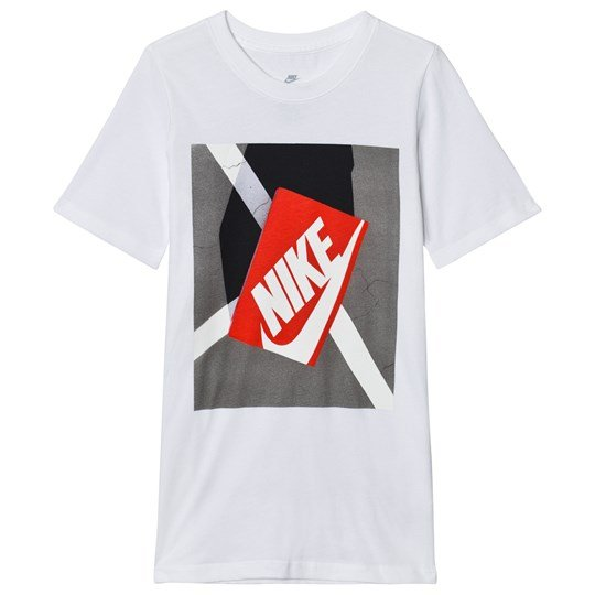 NIKE White Shoe Box Graphic Tee WHITE/STEALTH