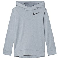 NIKE Hyper Dry Training Hoodie Grey PURE PLATINUM/STEALTH