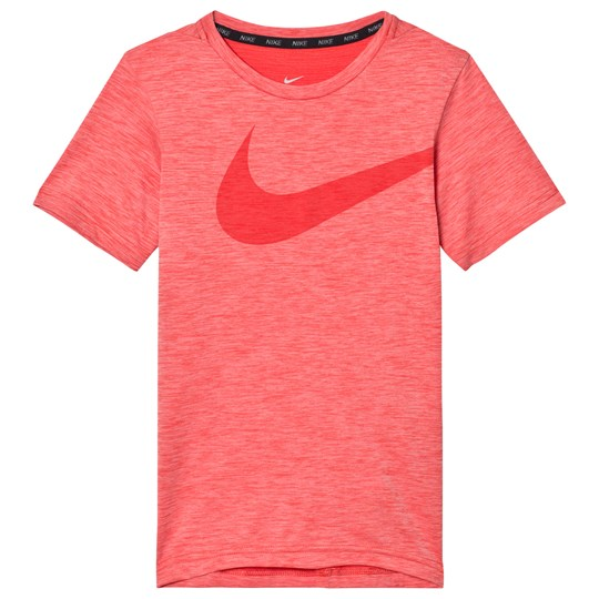 NIKE Red Breathe Training Tee TRACK RED