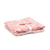 Kids Concept 2-Pack Muslin Blanket Edvin Pink/White Pink/White