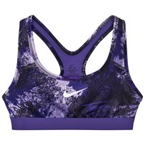 NIKE Purple Graphic Print Training Sports Bra DARK IRIS/DARK IRIS/DARK IRIS/WHITE