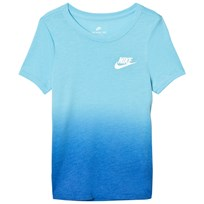 NIKE Blue Dip Dye Tee VIVID SKY/PHOTO BLUE/WHITE