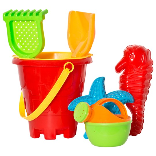 Suntoy Bucket Set Borg 7 Pieces Blå