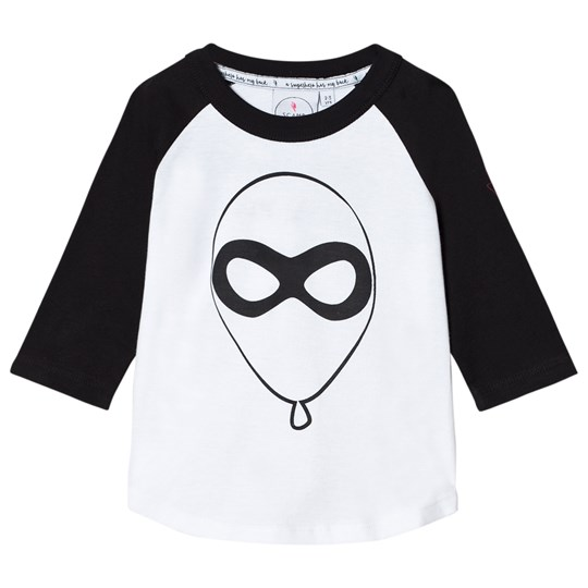 Scamp & Dude Super Charged Raglan – Balloon Man Black and White