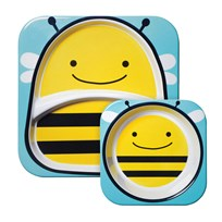 Skip Hop Zoo Melamine Set Bee Yellow