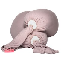 Bbhugme Pregnancy & Breastfeeding Pillow Dusty Pink/Vanilla Pebbles Dusty Pink