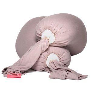 Image of bbhugme Pregnancy & Breastfeeding Pillow Dusty Pink/Pebble Vanilla (3125329685)