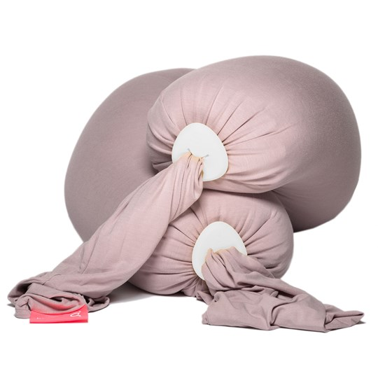 bbhugme Pregnancy & Breastfeeding Pillow Dusty Pink/Pebble Vanilla Dusty Pink