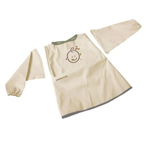 Image of SootheTime Bib w. Sleeves Taupe (3056048309)
