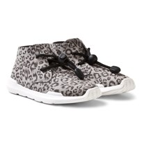 AKID Leopard Remington Hi Top Trainers GREY LEOPARD/WHITE