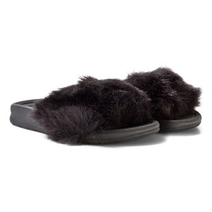 Image of AKID Black Fur Aston Slip On Sandal US XL 11-13 (UK 10-13,EU28-31) (2958239195)
