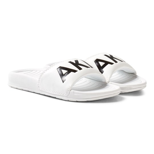 AKID White Classic Aston Sliders White