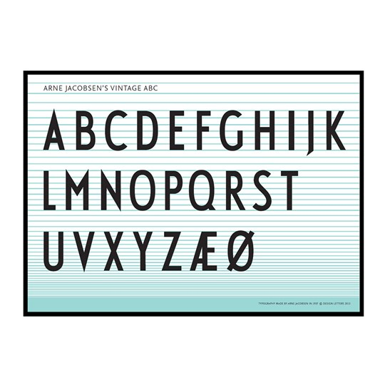 Design Letters ABC Poster Multi