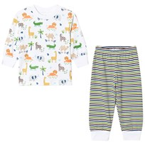 Kissy Kissy White Jungle Print and Stripe Pyjamas WH