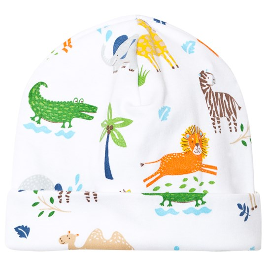 Kissy Kissy White Jungle Print Hat WH