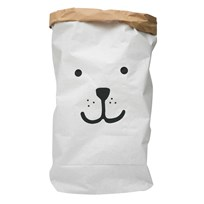 Tellkiddo Bear Papperspåse White