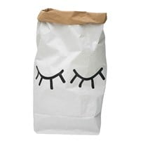 Tellkiddo Closed Eye Paper Bag White