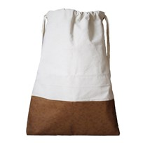 Tellkiddo Pleather Fabric Bag White