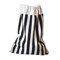 Tellkiddo Robin Striped Fabric Bag White