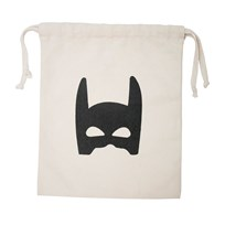Tellkiddo Superhero Small Tygpåse White