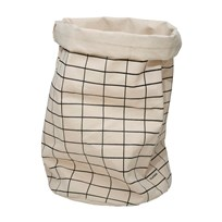 Tellkiddo Grid Round Fabric Bag White