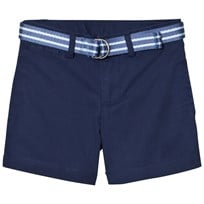 Ralph Lauren Belted Stretch Cotton Shorts Navy 008