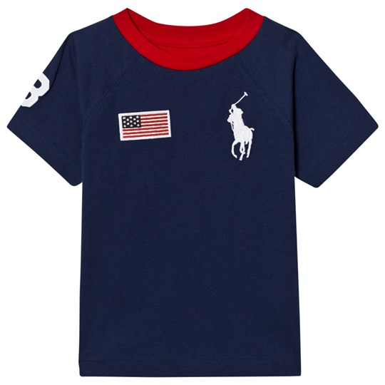 Ralph Lauren White and Navy Big PP and 3 Tee 001