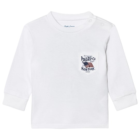 Ralph Lauren White US Graphic Long Sleeve Tee 001