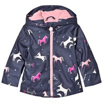 Joules Raindance Waterproof Rubber Raincoat French Navy Multi Horse FRENCH NAVY MULTI UNICORN
