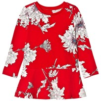 Joules Red Peony Print Jersey Dress RED PEONY FLOWER